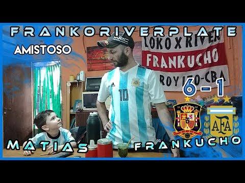 España 6 Argentina 1   Reacciones de un Hincha Argentino   Amistoso rumbo a Rusia 2018