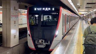 【5527F 新造公式試運転(最終)】都営5500形5527編成が試運転として東日本橋駅を通過するシーン(試991T)2021.9.24