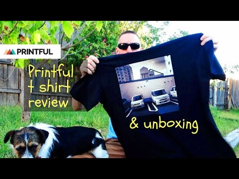 Printful T Shirt Review and T Shirt Unboxing