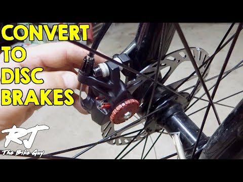 How To Convert To Disc Brakes From V-Brakes On Mountain Bike