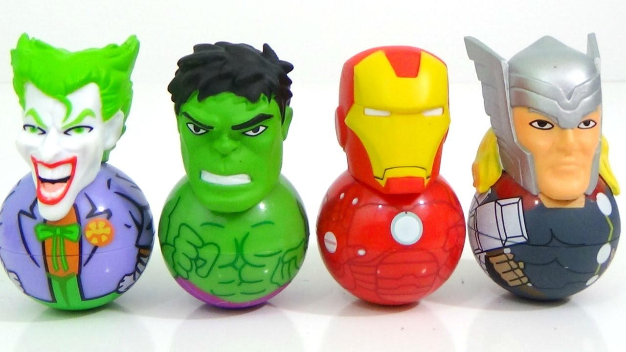 Weeble Wobbles Rockerz With Hulk Joker Spiderman