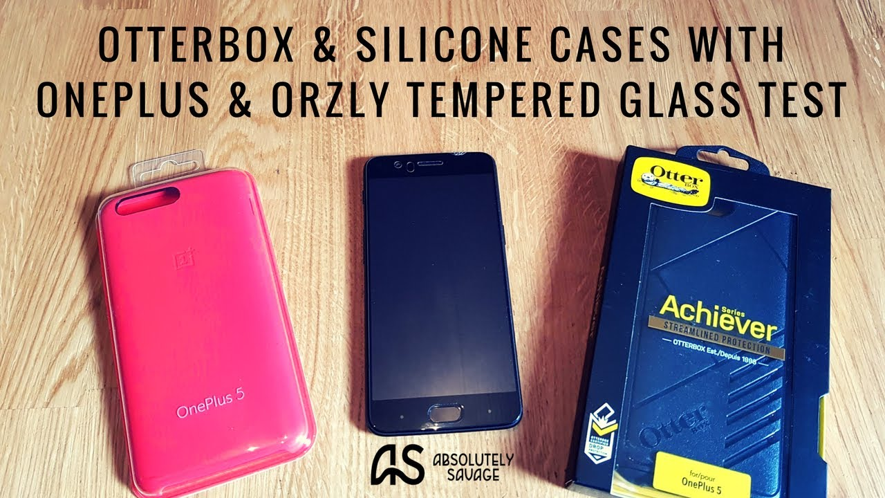 low priced 0f6d2 47592 OP5 Otterbox & Silicone Cases test with OnePlus & Orzly Tempered ...