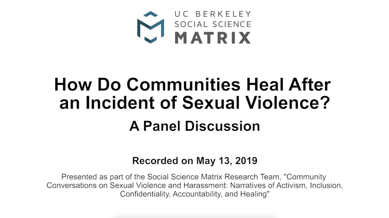 Video: How Do Communities Heal After an Incident of Sexual
