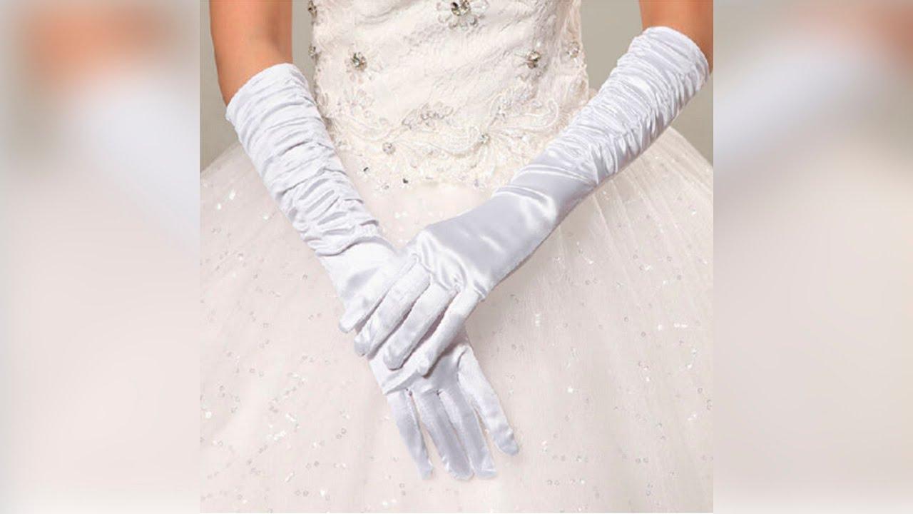 Белые длинные свадебные атласные перчатки митенки с петелькой на палец. 326 uah. 326 грн. В наличии. Белые длинные свадебные.