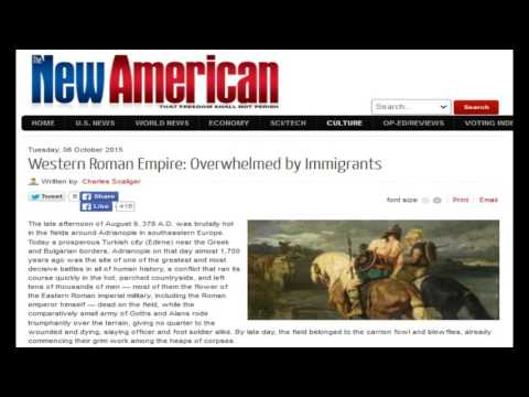 Western Roman Empire: Overwhelmed by Immigrants