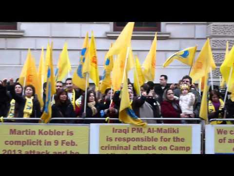 supporters of the People's Mojahedin in London 1