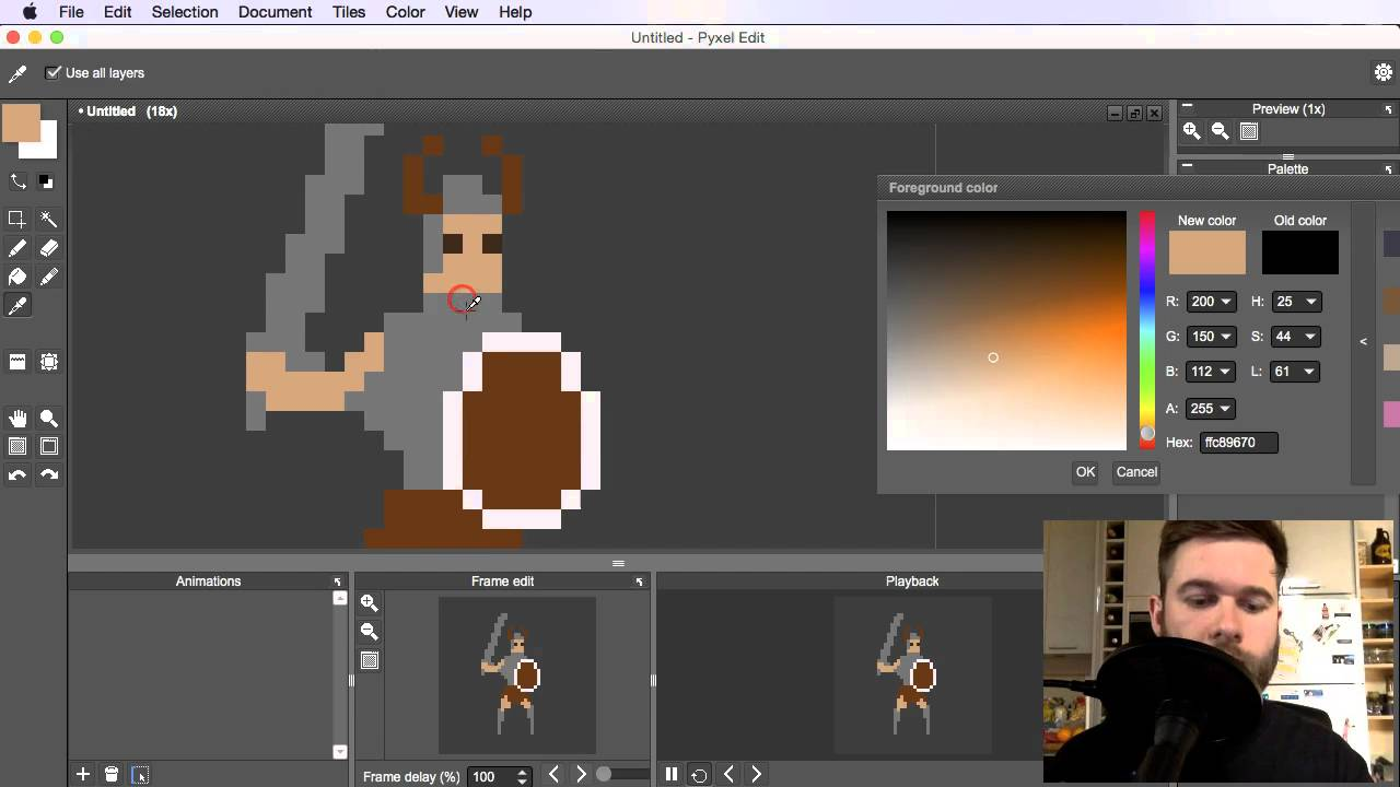 10747d04ac How To Pixel Art Tutorial Part 13: Base Sprite for Animation - YouTube