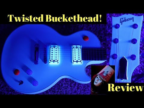 """Twisted Neck Buckethead! 2010 Gibson Les Paul BH Signature 27"""" Scale White 