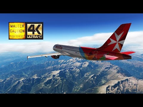 [AMC|2018] Zurich LSZH ✈ LMML Malta (FlightFactor Airbus A320 | XP11 4K) -  Смотреть видео