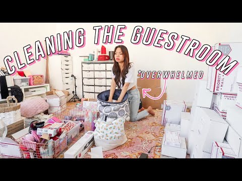 Organizing/Decluttering The Guest Room FINALLY! *satisfying (self Isolation Day 9)