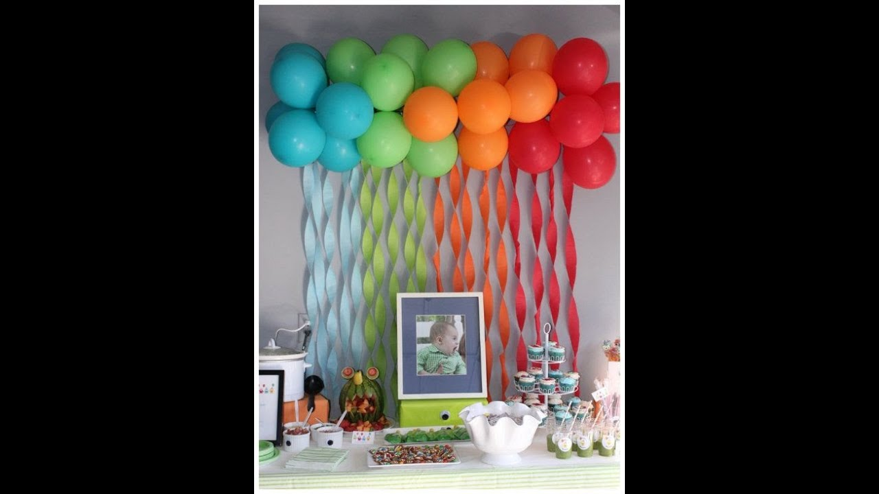 Diy no helium balloon ideas youtube for Balloon decoration ideas no helium