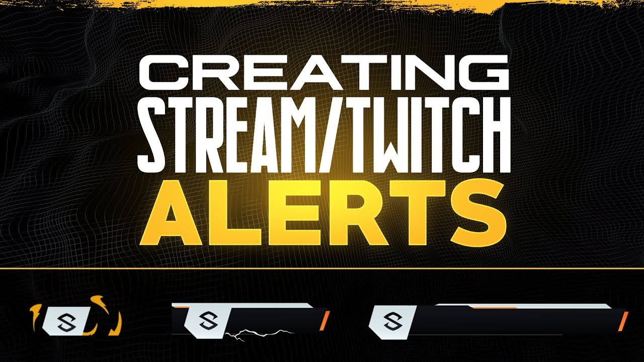 How to Create - Animated Stream Alerts / Twitch Alerts / PS, AE & AEJuice