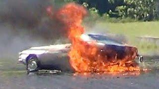 #195 Drag Racing Camaro Crash & Fire 2014 Hilo Hawaii