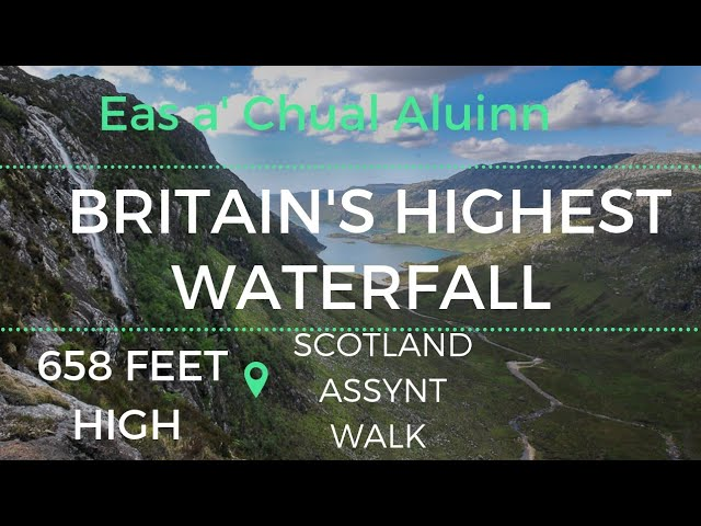 Britain's Highest Waterfall. 658ft Eas a' Chual Aluinn Walk In Scotland Assynt Sutherland.