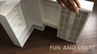 DIY: walk-in wardrobe & vanity mirror for dolls