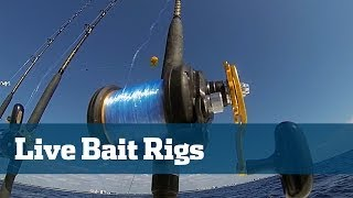 Live Bait Rigs Tuna Wahoo Kingfish - Florida Sport Fishing TV Rigging Station