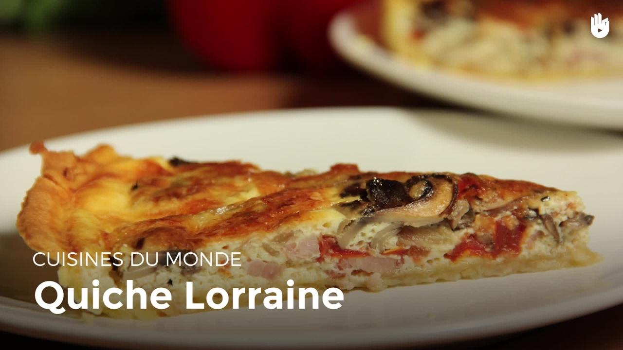 Quiche lorraine cuisine du monde youtube for Cuisine quiche lorraine
