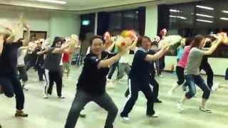 渡辺えりと花笠を踊ろうの第二回目の練習会が6月28日に行われ、渡辺...