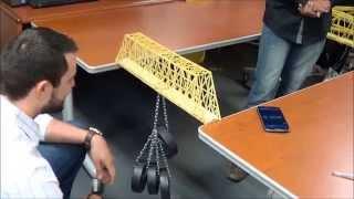 Fall 2014 - Spaghetti Bridge Final Testing