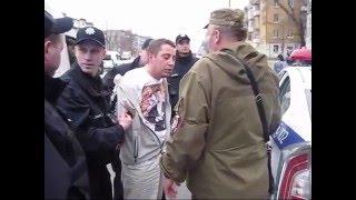 Задержание полицией неадеквата в Днепропетровске (1-я часть)