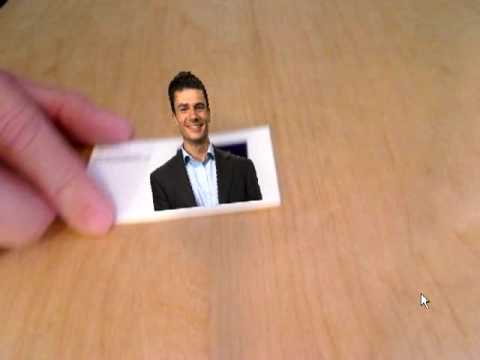 Augmented reality business card youtube augmented reality business card reheart Choice Image