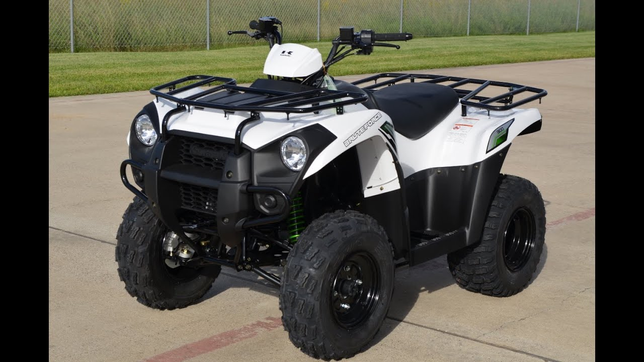 $4,299: 2015 kawasaki brute force 300 bright white overview and