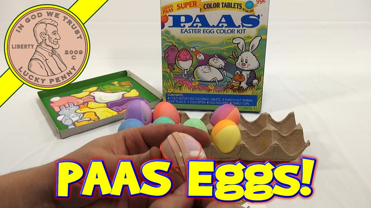 PAAS Super Color Tablets Easter Egg Color Kit, 2000 - YouTube