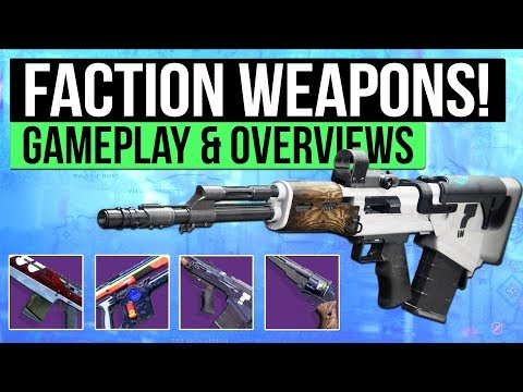 Destiny 2 | NEW FACTION WEAPONS! – Overview of FWC, Dead Orbit & New Monarchy Weapons!