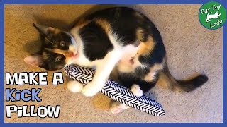 Make a KICK PILLOW Cat Toy from a Headband.