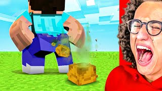 Minecraft YOU LAUGH = DESTROY ALL DIAMONDS Challenge!