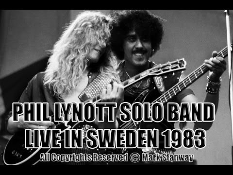 PHIL LYNOTT SOLO BAND 'SARAH' LIVE IN SWEDEN 1983 mp3