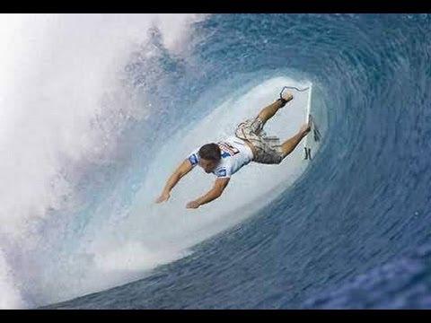 Surfing a HUGE Tsunami Wave - YouTube