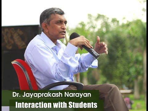 LOKSATTA DR JP INTERACTION WITH ENGINEERING STUDENTS AT TEKKALI SRIKAKULAM