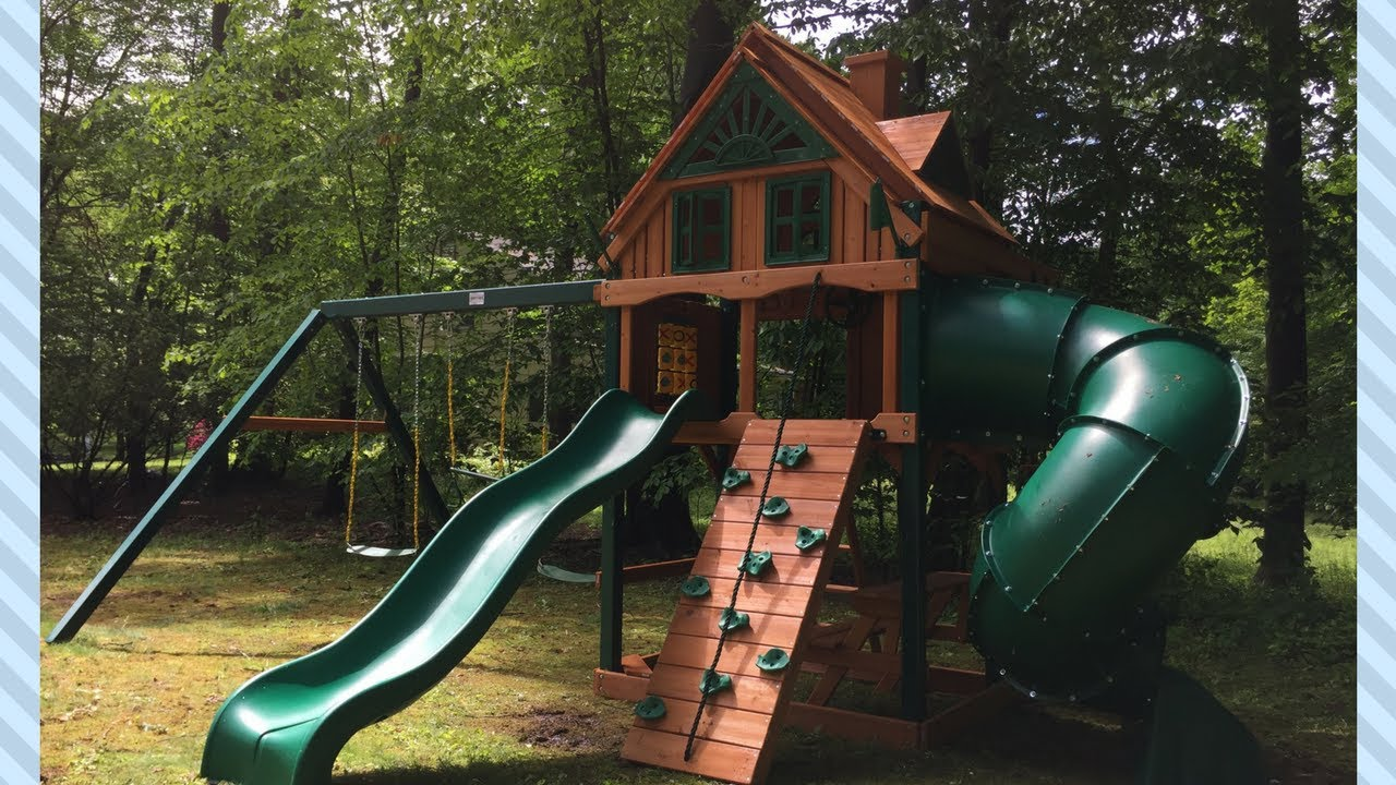 Gorilla Mountaineer Treehouse W Fort Add On Swing Set Review 01 0068