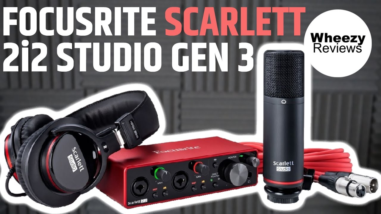 3rd Gen Focusrite Scarlett 2i2 Studio