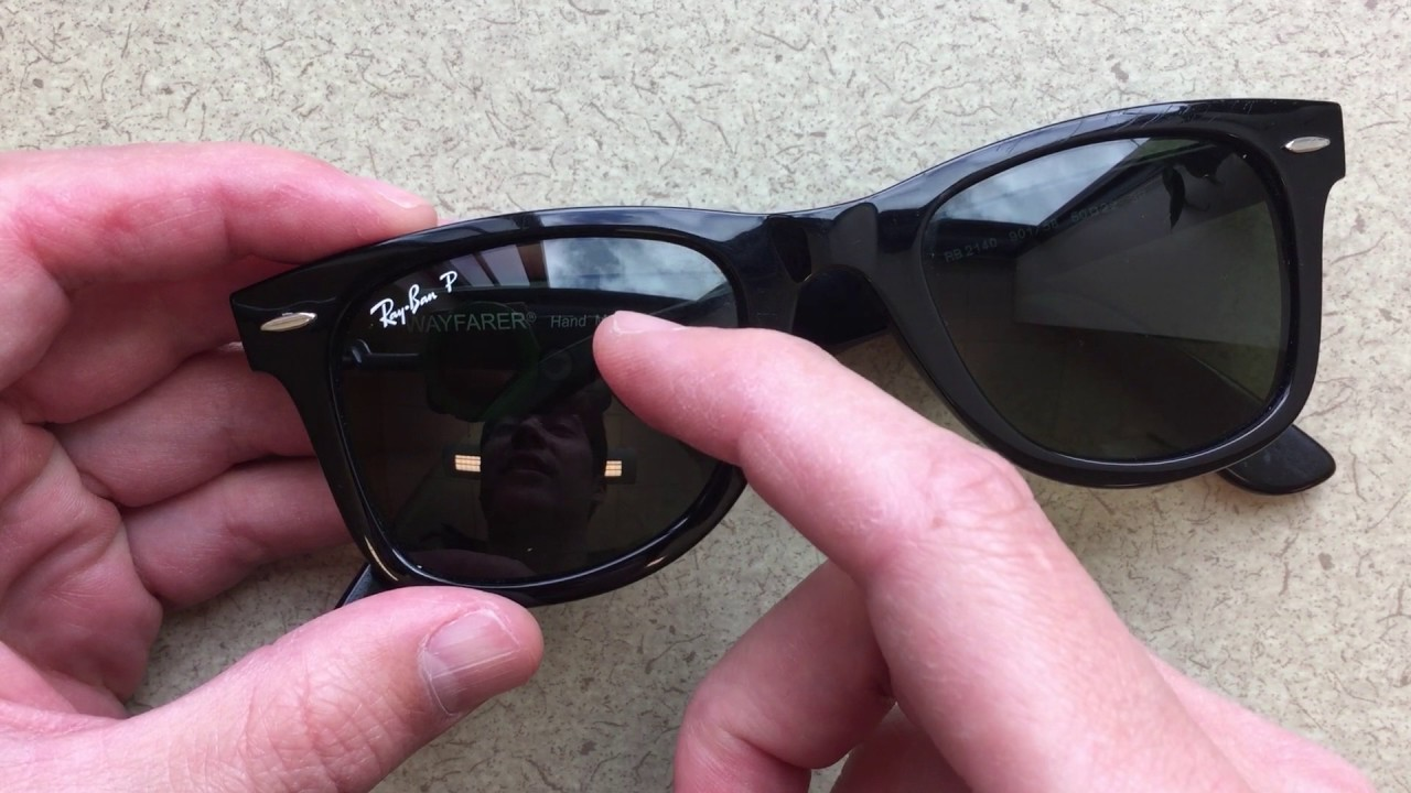 bae8b9db9 How to Remove the Ray Ban Logo with a Penny - YouTube