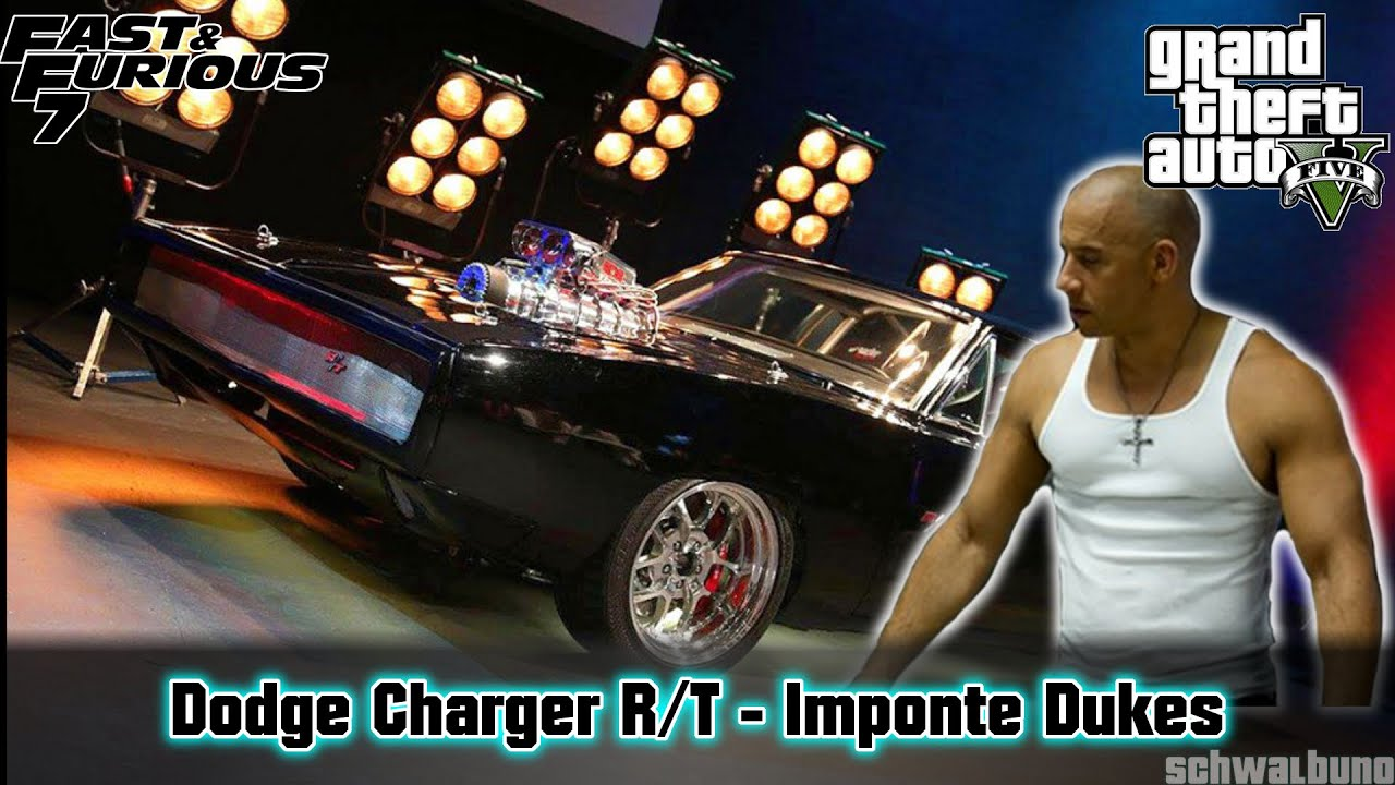 Gta 5 fast furious 7 dom s dodge charger r t dukes car build 22 youtube