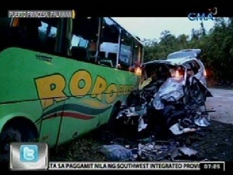 24Oras: 7, patay sa banggaan ng bus at van sa Puerto Princesa, Palawan