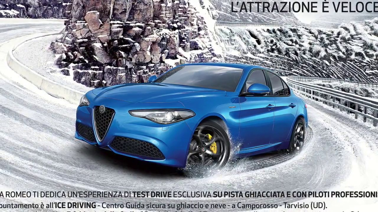 alfa romeo giulia veloce q4 ice snow test drive on track time lapse youtube. Black Bedroom Furniture Sets. Home Design Ideas