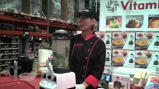 The Spinach Girl makes Almond Milk with the Vitamix