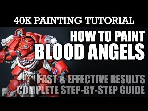 How to Paint BLOOD ANGELS Painting Tutorial (You can use this technique for all units/vehicles) | HD thumbnail