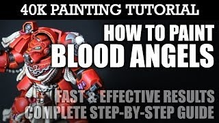 How to Paint BLOOD ANGELS Painting Tutorial (You can use this technique for all units/vehicles) | HD