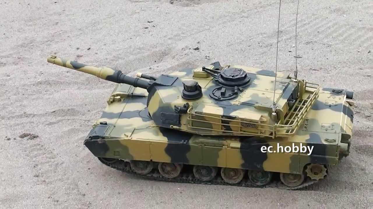 Radio Control M1A2 Abrams RC Battle Tank Military Vehicles Airsoft Shoot BB