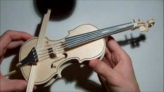 Asmr Carefully Assembling A Wooden Cello 3d Model Kit (whisper)