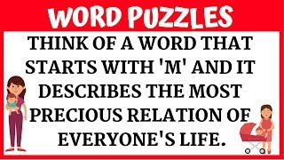 Easy Word #Puzzles with Answers to Twist your Brain