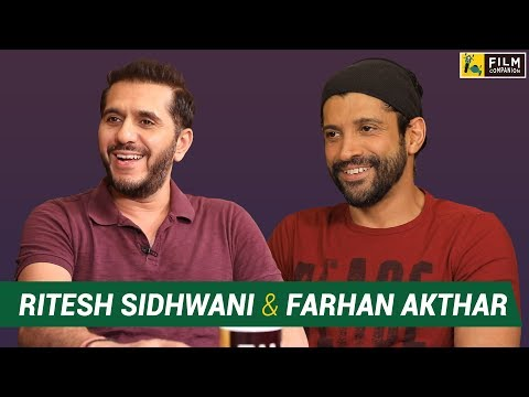 Farhan Akhtar and Ritesh Sidhwani  with Anupama Chopra  Fukrey 2