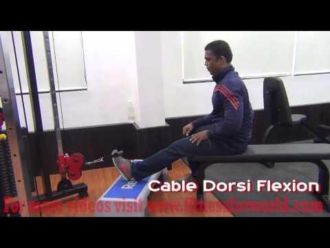 Cable dorsi flexion by Expert  Mayur Deshpande (ACSM & ACE certified) Mumbai