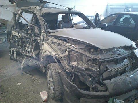 Porsche Cayenne. После ДТП с сомосвалом. Body Repair