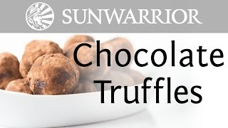 Vegan Recipe | Chocolate Truffles | Sunwarrior