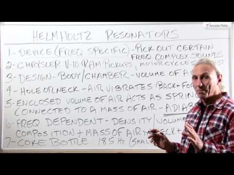 Helmholtz Resonators - www.AcousticFields.com
